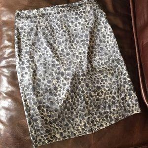 ANN TAYLOR Silk Pencil Skirt